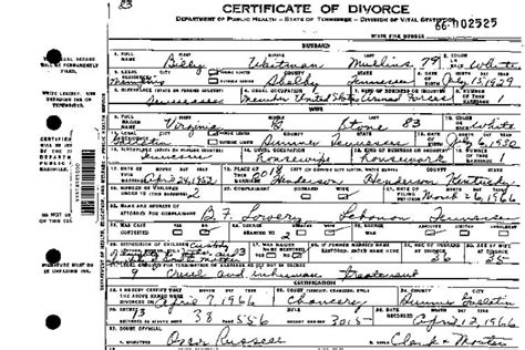 National Divorce Records Divorce Records Tennessee Of State