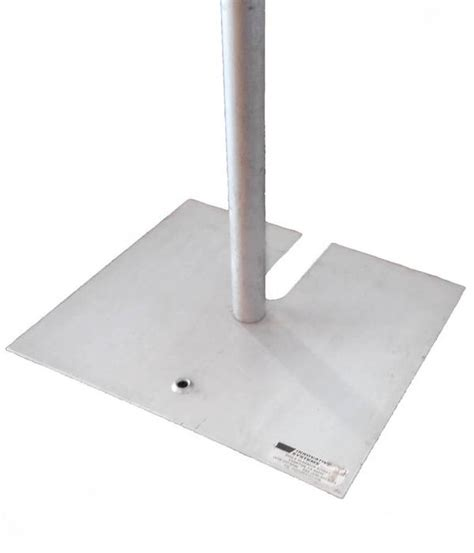 pipe and drape base base plate big top rentals