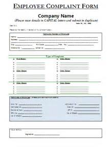 employee complaint form template employee complaint form a to z free printable sle forms