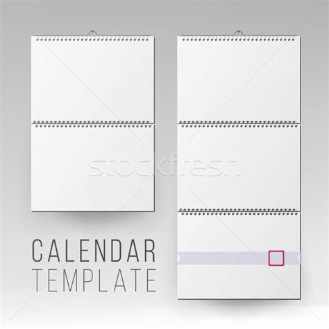 Wall Calendar Mock Up Vector Template Square Spiral Calendar Vector Illustration 169 Pikepicture Mock Schedule Template