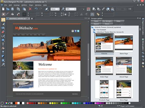 website templates for xara xara designer pro x9 adds even more publishing power from