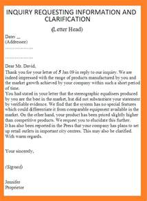 Business Letter Sle Requesting Information Request For Information Letter Template Letter Template 2017