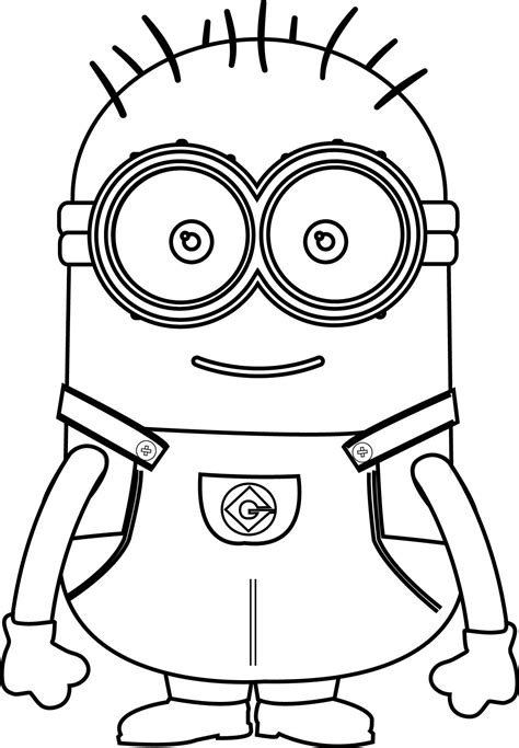 coloring pages minions cute happy birthday minion coloring pages coloring pages
