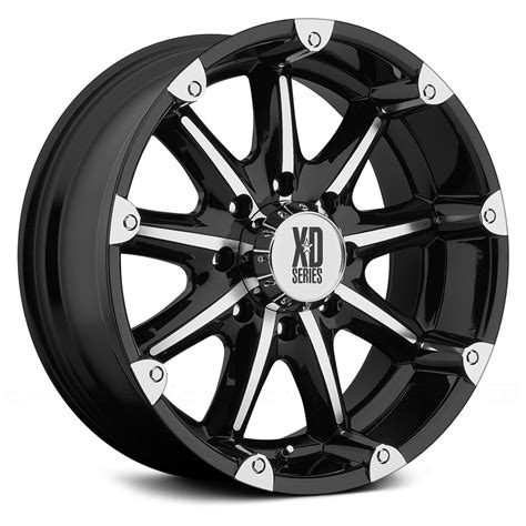 xd series 174 badlands wheels gloss black with machined