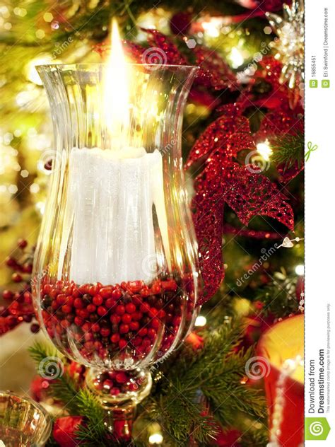 christmas candle stock image image 16855451