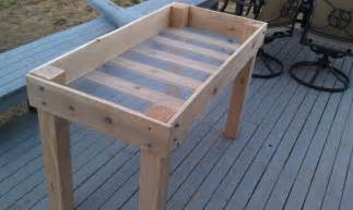 Planter Table Plans wooden vegetable planter box plans best wood idea