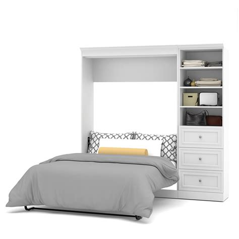 wall bed kit versatile 84 full wall bed kit in white