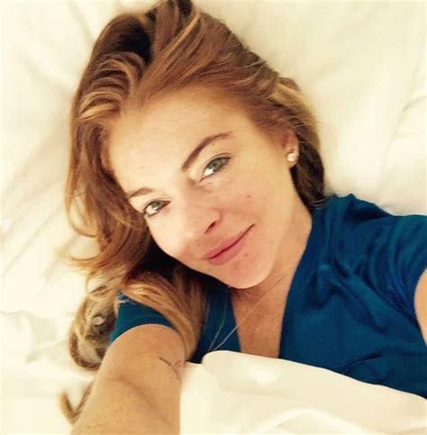 Lindsay Lohans A Firecracker In Bed by Lindsay Lohan Bed Selfie The Gossip