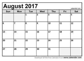 august calendar template best free august 2017 calendar printable template