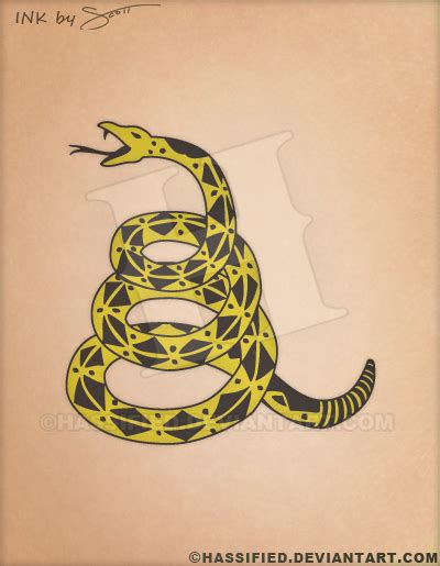 gadsden tattoo gadsden snake by hassified on deviantart