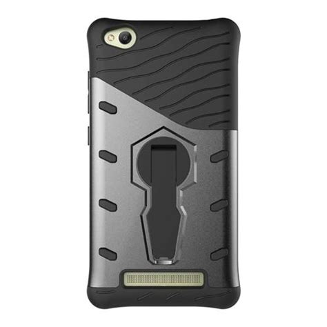 Casecasing Though Armor For Xiaomi Redmi 4a Free Tempered Glass armour series rotating bracket for xiaomi redmi 4a black