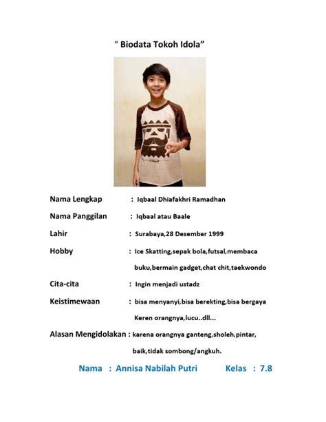 biografi tokoh idola isyana sarasvati biodata tokoh idola
