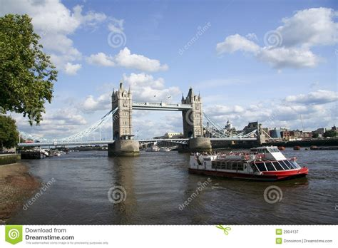 thames river boat crossing tower bridge river thames london uk royalty free stock