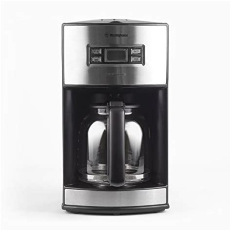 Westinghouse WCM12BSSA Select Series 12 Cup Programmable Coffee Maker,