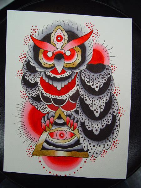 owl tattoo flash traditional owl flash