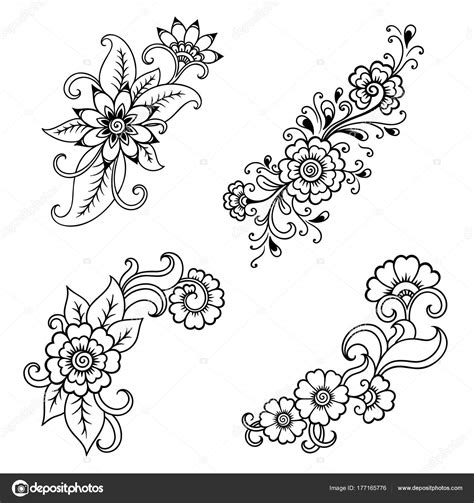 tattoo flower templates henna tattoo flower template indian style ethnic floral