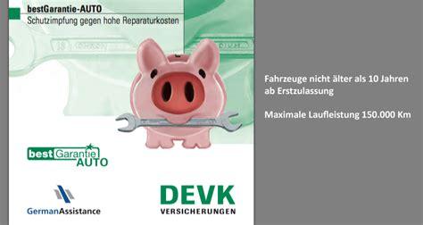 Auto Versicherung Devk by Devk Bestgarantie Auto Autofreund24