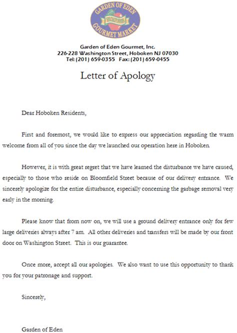 Apology Letter In Block Format 10 Business Apology Letter Letter Format For