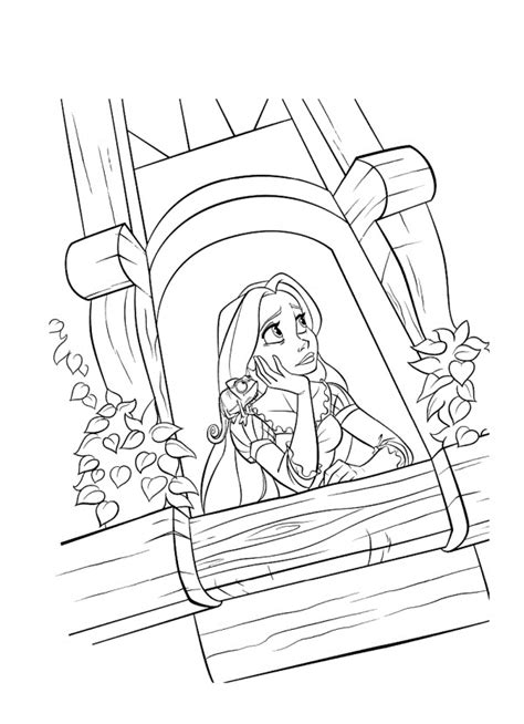 coloring page rapunzel tower free printable tangled coloring pages for kids