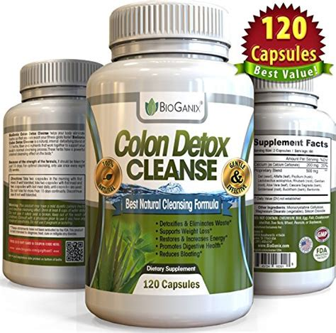 Colon Detox Cleanse Bioganix by Colon Detox Cleanse Weight Loss Pills 120 Capsules