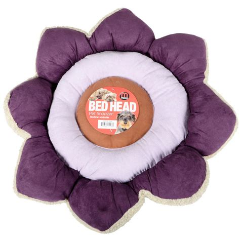 purple dog bed mikki pet snoozer flower purple bed cat small dog cushion