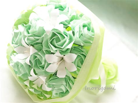Origami Bouquet For Sale - sale origami flower bouquet mint green