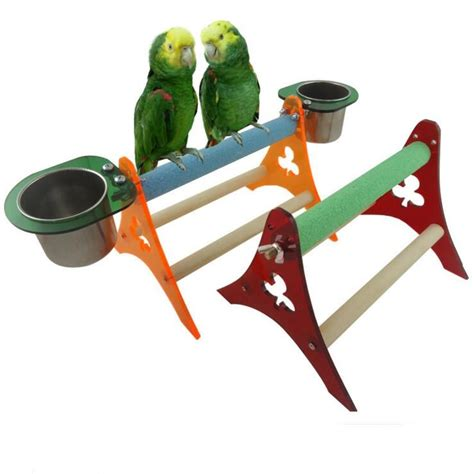wooden parrot stand bird perch goods bird supplies birds