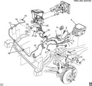 Brake Line Diagram 1998 Chevy S10 Brake Lines Front