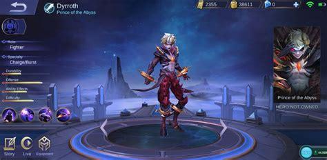 build dyrroth mobile legends fighter rasa assassin
