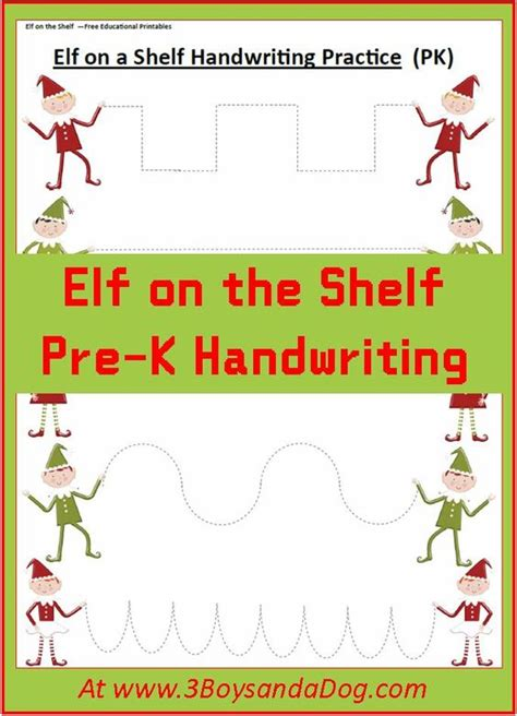 printable elf activities elf on the shelf christmas handwriting worksheets for kids