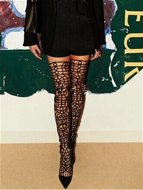 popular lace up thigh high boots buy cheap lace up thigh