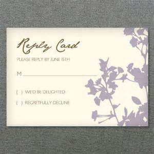 Free Rsvp Card Templates by Rsvp Template Silhouette Weeds Print