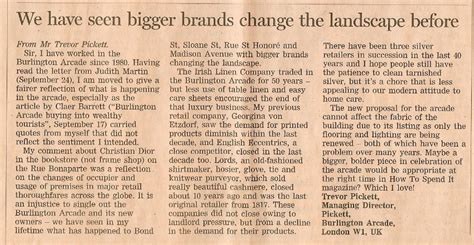 Financial Times Letter To The Editor Guidelines We Seen Bigger Brands Change The Landscape Before Daniel Bexfield Antiques