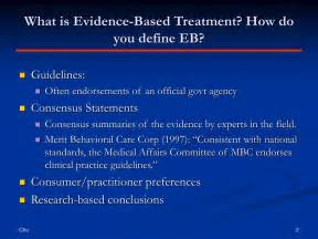 Evidence Based Psychological Interventions In The Treatment Of Mental Disorders A Literature Review by Ppt Comparing Empirically Supported Treatments And Evidence Based Practice Powerpoint