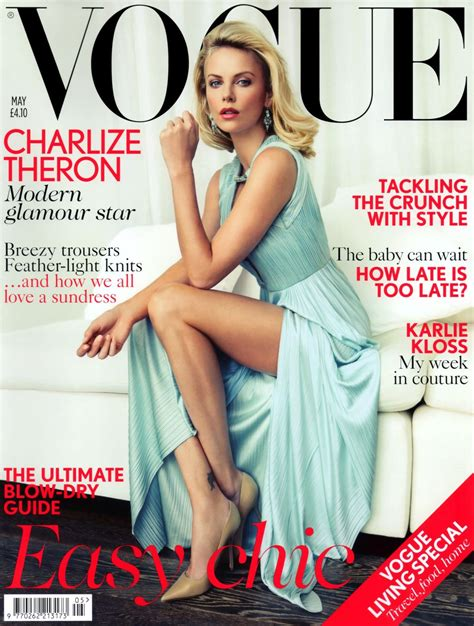 Charlize Theron Vogue by Charlize Theron In Versace For Vogue