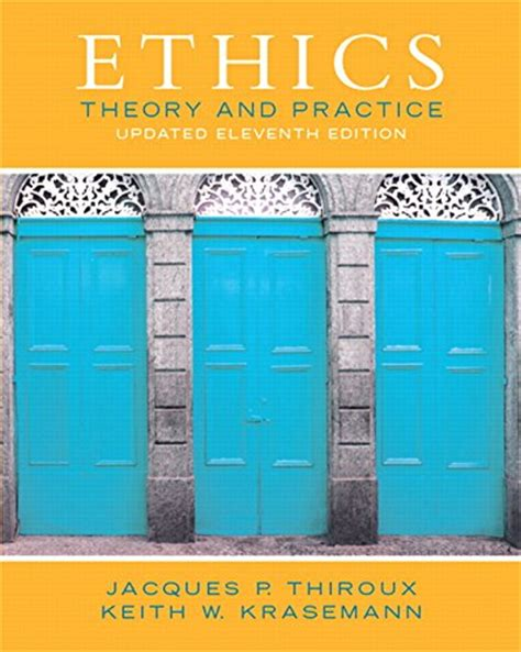 ethics in nonprofit organizations theory and practice books biography of author jacques p thiroux booking