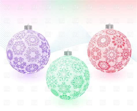 new year ornament vector free new year s tree decoration balls with ornament