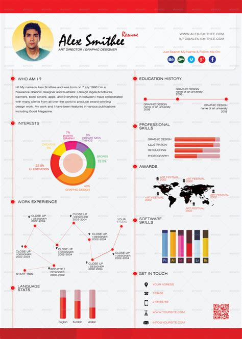 infographic cv template free top 5 infographic resume templates
