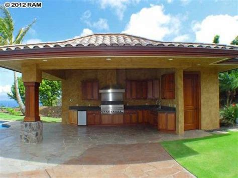 pool cabana with bathroom ocean view maui home with infinity pool in the gated community of honolua ridge at