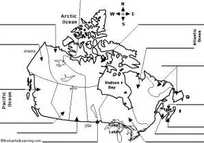 map of canada with labels map of canada for printable