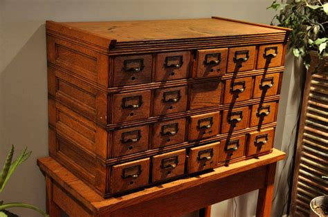 Vintage Card Catalog Cabinet For Sale by Antique Library Card Catalog Cabinet For Sale Antique