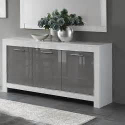 Table Sets For Sale Lorenz Sideboard In White And Grey High Gloss With 3 Doors