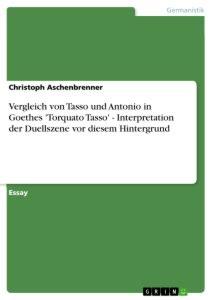ebook format vergleich vergleich von tasso und antonio in goethes torquato tasso