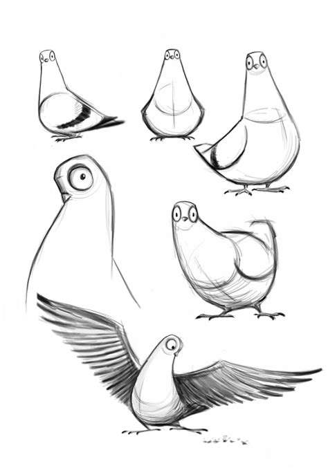 I M Drawing The Line by Rory Conway S Pigeon Character Designs