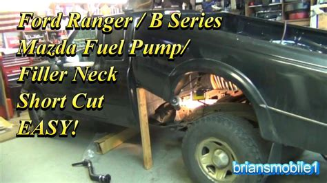 ford ranger fuel pump filler pipe shortcut youtube