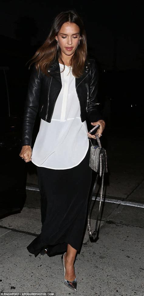 Alba Segi Leather With Date alba mixes elegance and edge in black maxi skirt