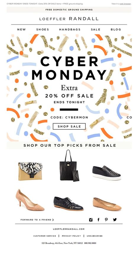 design by humans cyber monday loeffler randall beautiful cyber monday email newsletter
