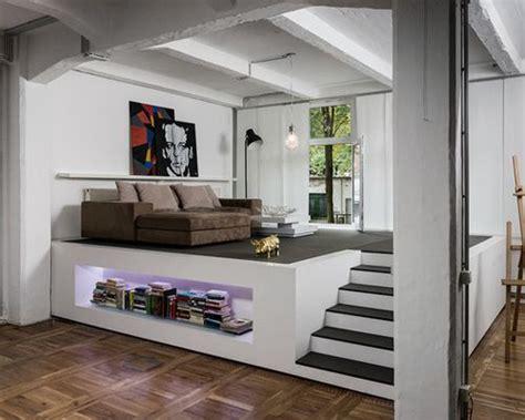 wohnzimmer podest podest fotos wohnideen einrichtungsideen houzz