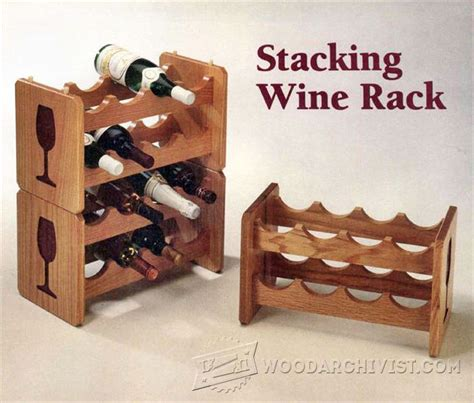stacking wine rack plans woodarchivist
