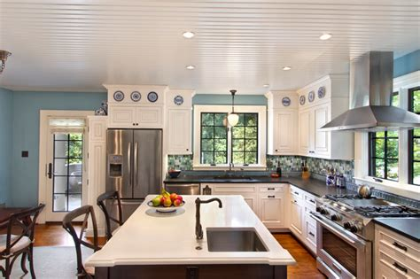 White Kitchen Remodeling Ideas Eat In Kitchen With Island And Sink